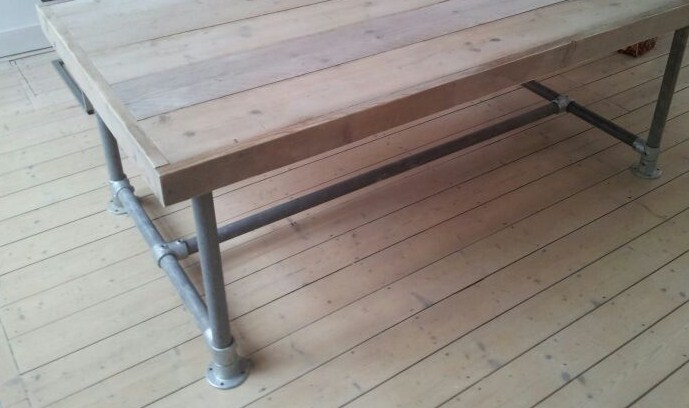 Steigerhout Steigerbuis Tafel : Str collectie tafels teak en steigerhout steigerbuis tafel met